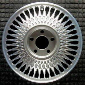 Cadillac Deville Machined W Charcoal Pockets 15 Inch Oem Wheel 1989 1993 3634