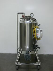 Dci 120 Liter Stainless Steel Jacketed Reactor W Bottom Magnetic Sterile Mixer