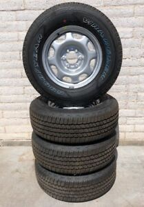 4 Ford 10 14 F150 Expedition Oem Steel Wheel Rims W Good Year 265 70r17 Tires