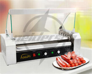 220v Commercial 5 Roller Hot Dog Grill Cooker Machine 1kw