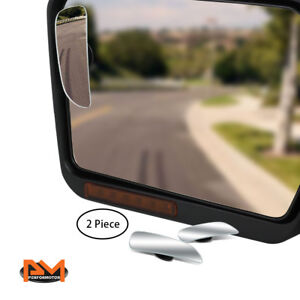 Pair Adjustable Blind Spot Mirror Rectangular Convex Back Rear 2 Side View 3 6
