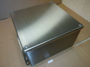 New Hoffman Stainless Steel 10 X 10 Type 4 4x Electrical Enclosure Box