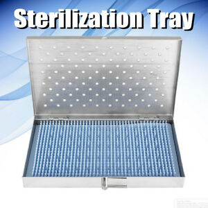 Stainless Steel Sterilization Tray Case Surgical Instrument 8 5 x5 3 x0 8