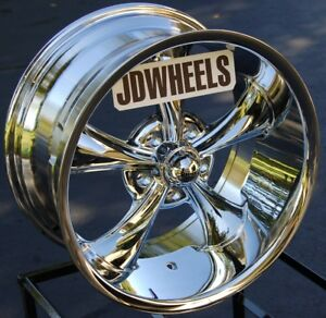 Jd Wheels 18x9 5 Ridler 695 Chrome Vintage Rim 695 8961c 6mm 5x4 75 Chevy