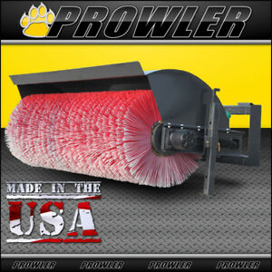 Prowler 72 Inch Hydraulic Angle Broom Sweeper Attachment For Skid Steer Loaders