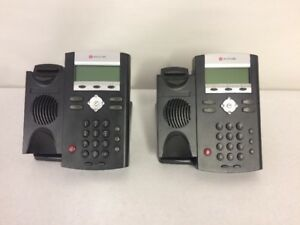 Lot Of 2 Polycom Soundpoint Ip 335 Phone Voip Phone With Adjustable Stands J 17