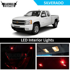 Red Led Interior Lights Accessories Package Kit Fits 2007 2013 Chevy Silverado