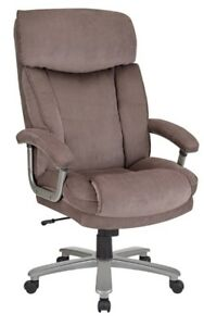 Realspace Btec 820 Big Tall Executive Fabric High back Office Chair Brown s