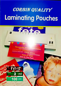 300 Letter 3 Mil Laminating Pouches Laminator Sheets 9 X 11 1 2 Quality