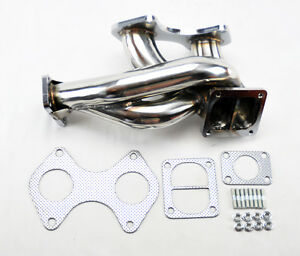 Mazda Rx7 1993 1995 Fd3s T4 T04b Flange Stainless Steel Turbo Manifold 13b