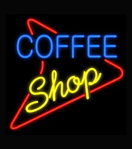 Coffee Shop Neon Sign Display Caf Bar Station Bakery Store Real Neon Light Z473