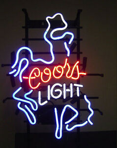 Coors Light Neon Sign Store Display Beer Bar Mancave Real Neon Light Custom Z086