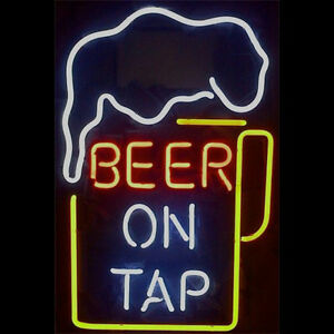 Beer On Top Neon Sign Display Beer Bar Pub Mancave Garage Real Neon Light Z384