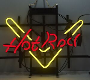 Hot Rod Neon Sign Display Store Beer Bar Pub Mancave Garage Real Neon Light Z445