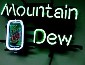 Mountain Dew Soda Neon Sign Light Store Display Beer Bar Real Neon Light Z018