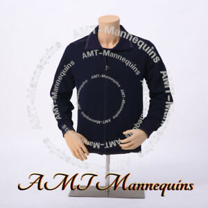 Male Mannequin Torso stand Arms Adjust Height Display Dress Form Skin Tone