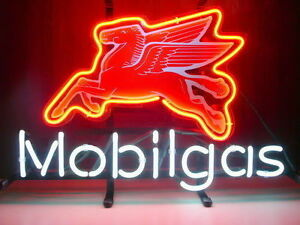 Mobil Gas Oil Neon Sign Store Gas Station Garage Beer Bar Pub Neon Light Z258