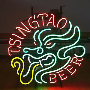 Tsingtao Beer Light Neon Sign Store Display Beer Bar Sign Real Neon Light Z004