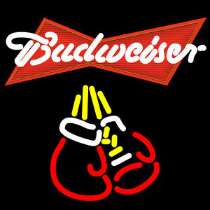 Budweiser Boxing Neon Sign Display Beer Bar Pub Real Neon Light Sign Custom Z471
