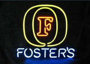 Fosters Neon Sign Display Store Beer Bar Pub Real Neon Glass Light Custom Z488