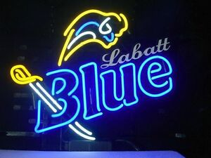 Labatts Bluesabres Neon Sign Beer Bar Pub Buffalo Real Neon Light Custom Z154