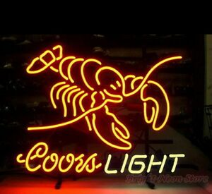 Coors Light Lobster Neon Sign For Store Beer Bar Pub Real Neon Light Custom Z571