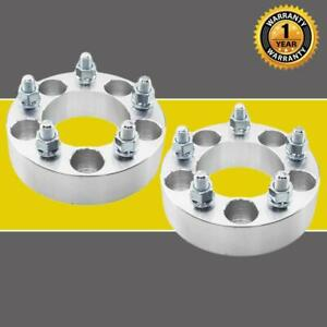2pcs 1 5 5x4 5 To 5x4 5 1 2 X20 Wheel Spacers Adapters For Ford Mustang Jeep