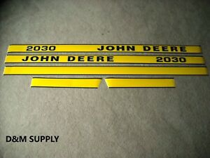 John Deere 2030 Tractor Decal Set Later Models Hood