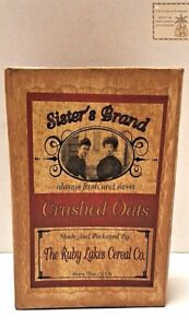 New Primitive Country Farmhouse Crushed Oats Box Kitchen Decor