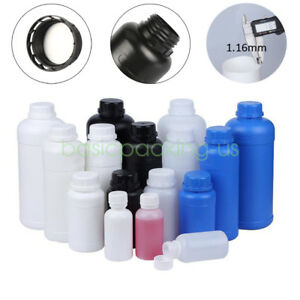 Lot 100ml 250ml 300ml 500ml Round Hdpe Bottles Lab Plastic Liquid Reagent bottle