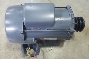 Used Rebuilt 3hp Dayton Motor 1740 Rpm With 1 Shaft And 4 Pulley