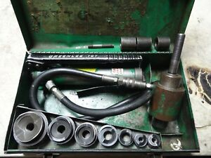 Greenlee 7646 1 2 To 2 Hydraulic Knockout Punch Driver Set