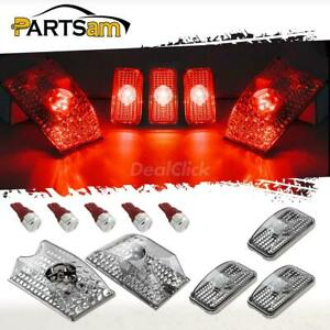 5xclear Top Cab Running Lights 5730 Red W5w T10 Led Bulb For 03 09 Hummer H2 Suv