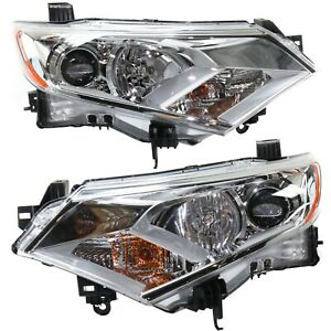 Headlight For 2011 Nissan Quest Pair Driver And Passenger Side Capa