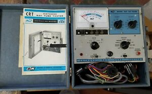 Vintage B k Model 465 Crt Tester With Case And Manuals