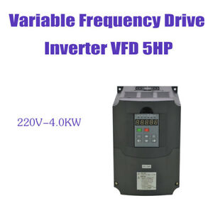 Vfd Variable Frequency Drive Inverter For Cnc New 4kw 220v 5hp
