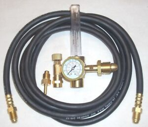 Argon Or Argon co2 Mix Flowmeter Mig Tig Welding Regulator W 10 Inert Gas Hose