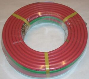 1 4 X 50 Grade R Twin Welding Hose W B size Fittings For Oxygen Acetylene