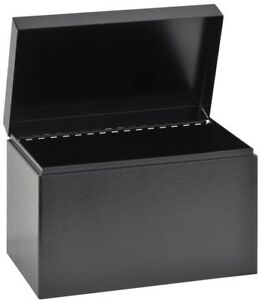 Hinged Cover Index Business Card File Table Desk Office Supplies 5 X 8 5 Inch