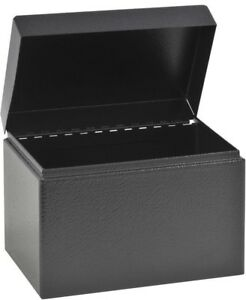 Hinged Cover Index Business Card File Table Desk Office Supplies 4 X 6 5 Inch