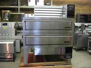 Garland Air Deck Pizza Ovens Excellent Condition Double Stack Gas