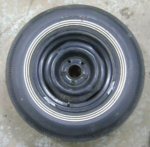 1968 1972 Nos Spare Tire Goodyear Polyglas Double Eagle 3 Stripe H78x15 Chevy