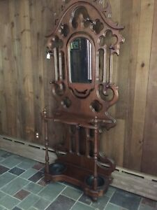 Antique Hall Tree Umbrella Stand