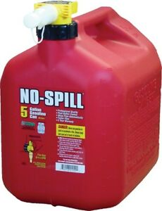 No spill Gasoline Fuel Gas Can Red 5 Gallon 13 75 x10 x15 1450