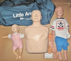 Laerdal Cpr First Aid Training Manikins W Rolling Bag Adult Child And Baby
