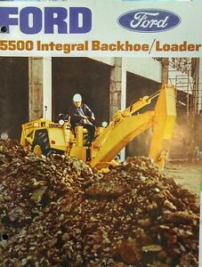 Ford 5500 Full Color Tlb Tractor Loader Backhoe Sales Ad Brochure Catalog 16pg