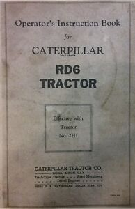 Caterpillar Diesel Rd6 Tractor Operator Parts Service Manual 3 Books 282pg