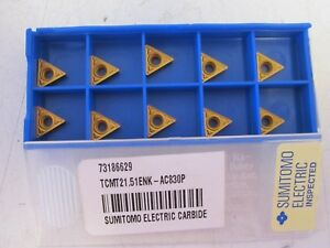 Lot Of 10 Sumitomo Tcmt21 51enk ac830p Carbide Inserts New