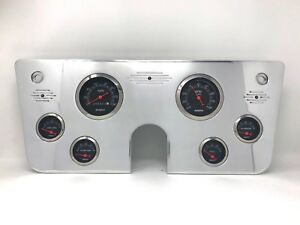 1967 1968 1969 1970 1971 1972 Chevy Truck 6 Gauge Dash Panel Cluster Black 3 3 8