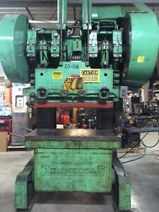 Rousselle Obi 100 Ton Punch Stamping Press Model 10b48 With Auto Feed Uncoiler
